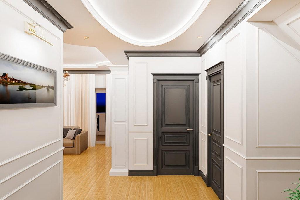 Потолочный плинтус в интерьере квартиры